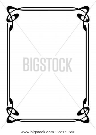 art nouveau ornamental decorative frame