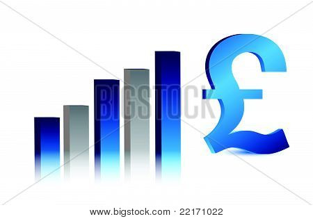 currency business blue British pound graph illustration