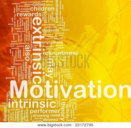 Background concept wordcloud illustration of motivation international