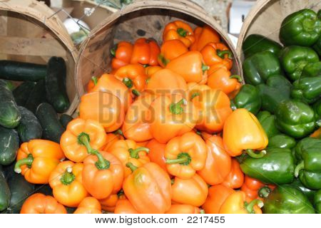 Green Ande Orange Peppers For Sale