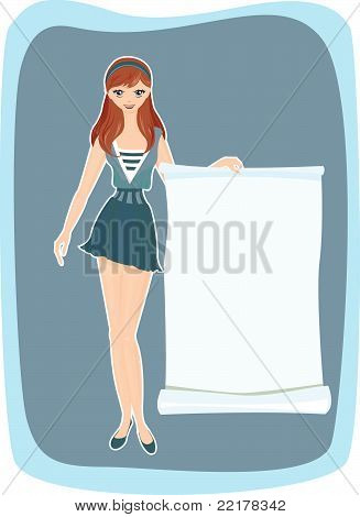 Girl With Advertising