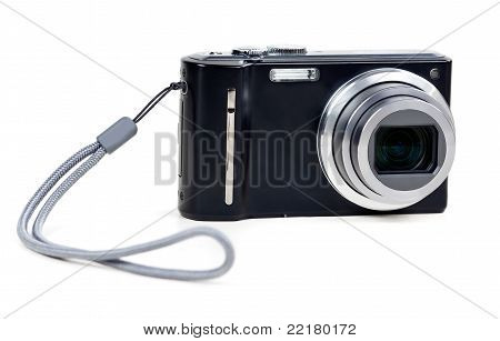 Black Camera With Sliding Lens