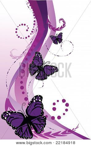 Swirling Purple Butterfly Path