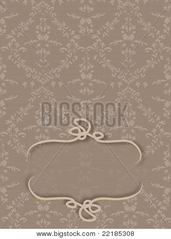Damask with space to Write