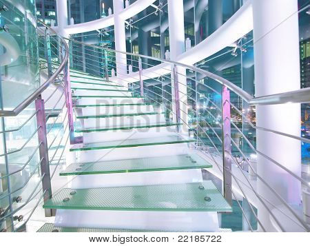 Staircase made by glass