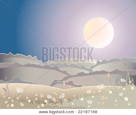 Harvest Moon Landscape