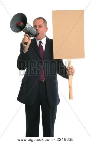 Businessman Demonstration