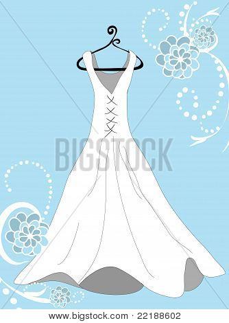 Something Blue Wedding Dress
