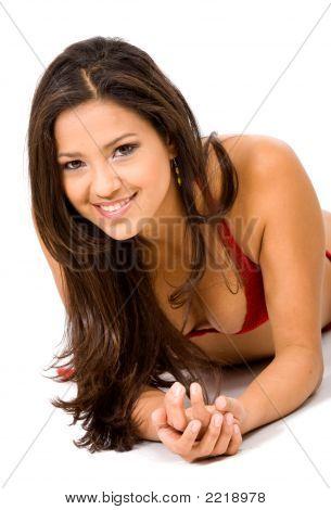 Fashion Girl In A Bikini
