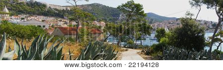 Famous tourist resort Hvar -Croatia, panorama