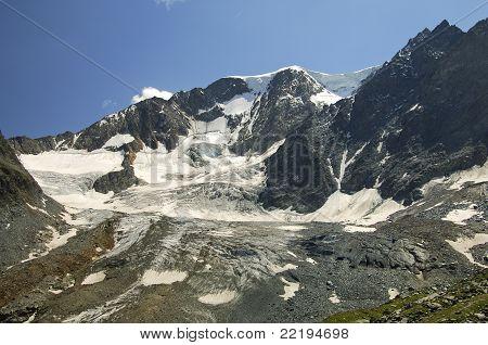 Peaks and glacier