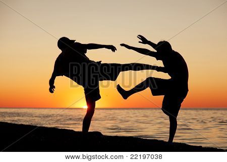 Fight On A Beach