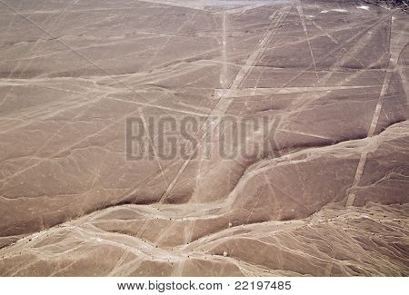 Nazca Lines Parrot And Several Triangles