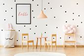 Cute And Functional Preschool Interior poster