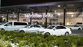 Постер, плакат: Vancouver Bc Canada January 9 2018: Office Of Official Dealer Mercedes benz Mercedes benz Is A