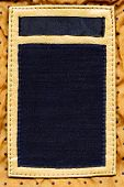 Blank combined leather and jeans label