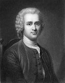 Jean-Jacques Rousseau (1712-1778). Engraved by R.Hart and published in The Gallery Of Portraits With