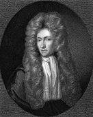 Robert Boyle (1627-1691). Engraved by R.Woodman and published in The Gallery Of Portraits With Memoi