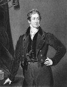 Постер, плакат: Роберт Пиль 1788 1850 Гравировка J Cochran и Опубликовано в письма королевы Виктории 1844 1