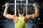stock photo of lifting weight  - health club - JPG