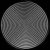 foto of dizziness  - Dizzying spiralling lines in black and white - JPG