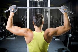 foto of lifting weight  - health club - JPG