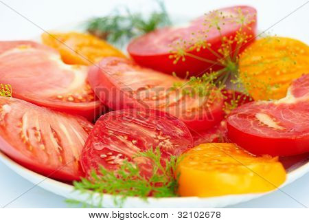 Salad From A Tomato