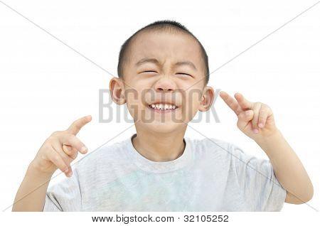 Children smirk