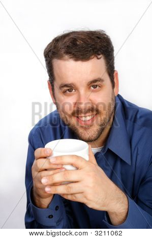 Young Businessman Holding Coffee Cup