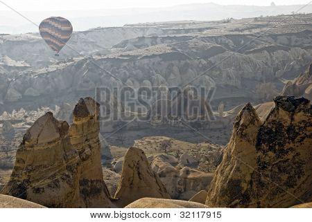Hot Air Ballons Flying On The Sky Of Cappadocia.turkey.