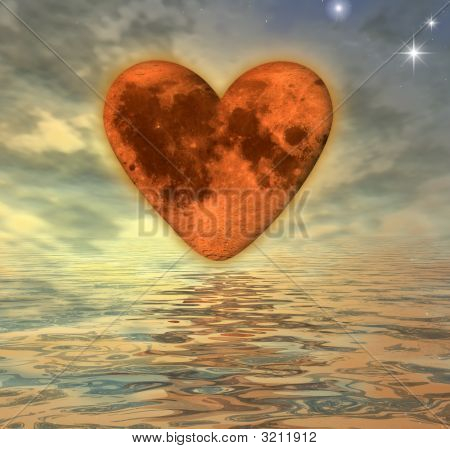Orange  Moon-Heart