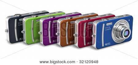 Set of color compact digital cameras