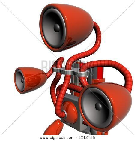 Music Robot Red