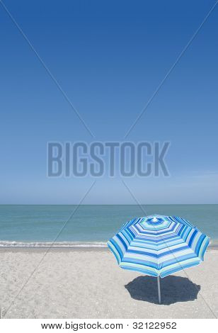 Beach umbrella at the beach in Captiva