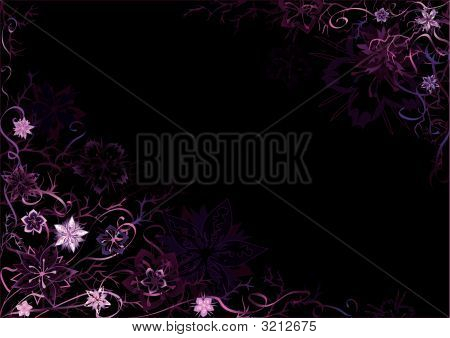 Emo Floral Background