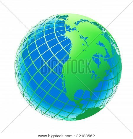 Transparent The Globe Green And Blue Color