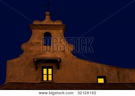 small Chapel at nighttime - Cadiz, Spain