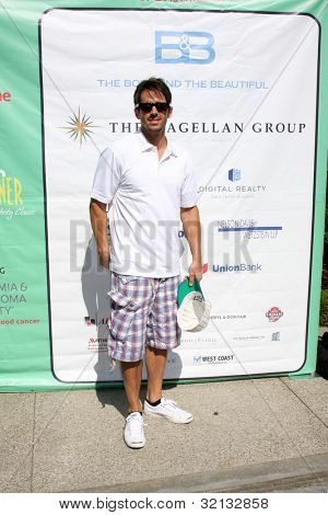 LOS ANGELES - APR 16:  Brandon Beemer at the The Leukemia & Lymphoma Society Jack Wagner Golf Tournament at Lakeside Golf Course on April 16, 2012 in Toluca Lake, CA