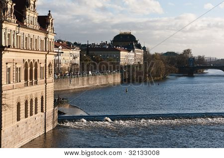 Czech Republic, Prague, Vlatva River Banks.