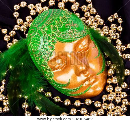 The beautiful mysterious venetian mask for Carnival