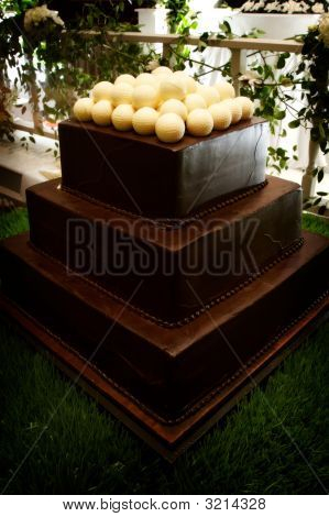 Groom's Cake With White Chocolate Balls