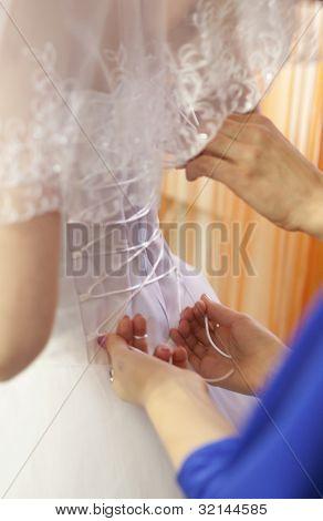 Pre-ceremony Bride Dressing