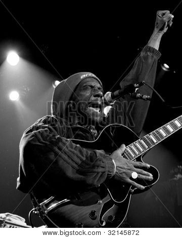NEW YORK - APR 17: Frontman HR of Bad Brains performs at Irving Plaza on April 17, 2012 in New York City. The iconic East Coast punk band formed in Washington, D.C. in 1977.