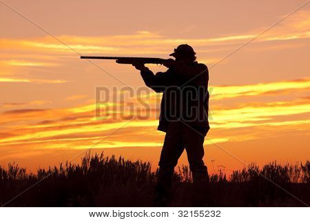 Hunter in Sunset