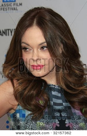 LOS ANGELES - APR 12:  Rose McGowan arrives at the TCM 40th Anniv of