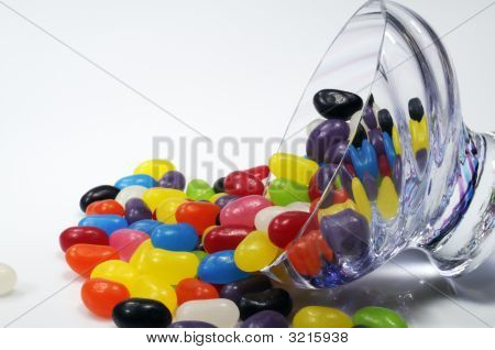 Spilt Bowl Of Jelly Beans