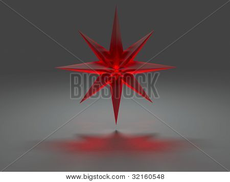 Eight-pointed Star With Caustic Effect