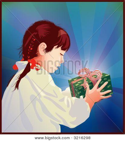 Girl Receiving A Gift