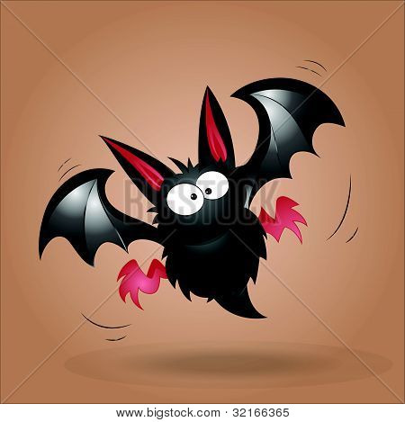 Funny Bat Vector