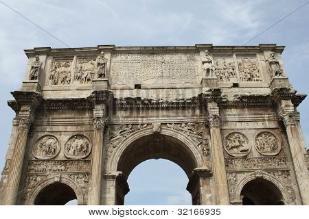 The Arch of Constantine in Rome, Italy.